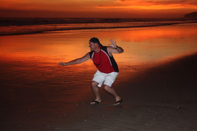 Jamie Surfin' Sunset