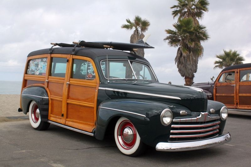 Old Green Woodie