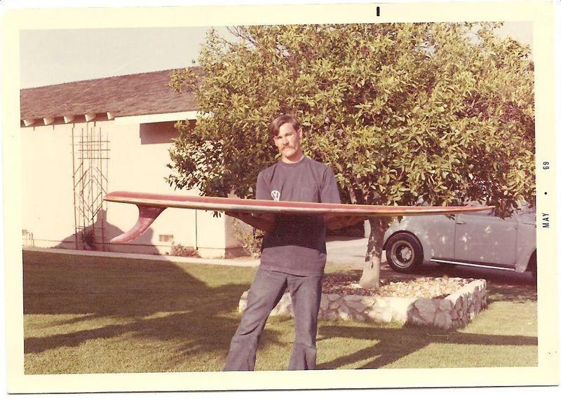 Jamie's latest Surfboard 1969